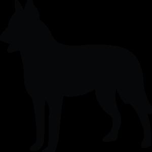 Hund Silhouette BlechMal